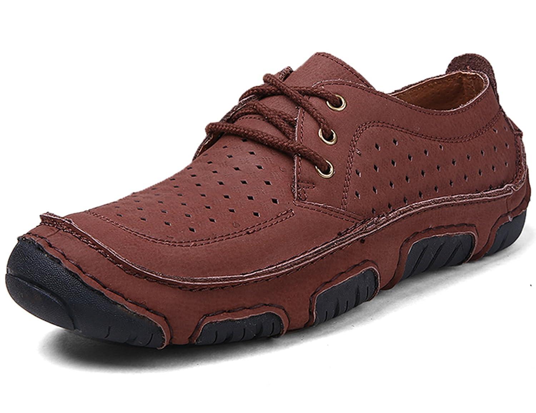 GNEDIAE Zapatos para Hombres Zapatos Transpirables Zapatos para Hombres Zapatos Planos para Hombres Zapatos Ligeros para Exteriores 40 EU D2622 Rojo Marrón