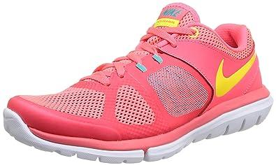 best sneakers 98bc0 8f133 Nike Flex 2014 RN, Baskets Mode Femme - Rose (Hypr Punch VLT-