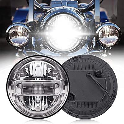 7 Inch LED Headlight High/Low Beam DRL Motorcycle Headlamp for Harley Glide Series, Softail Series, Sport Glide, Ultra Limited, Street Glide Special, Road Glide Special, DOT Approval, Chrome, 1PCS: Automotive