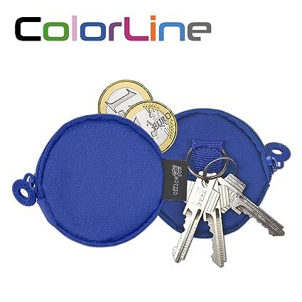 Colorline 58511 - Portatodo Pocket, Estuche Multiuso para Viaje, Monedas, Llaves y Pequeños Objetos, Color Azul Oscuro, Medidas 20 mm x 75 mm Ø
