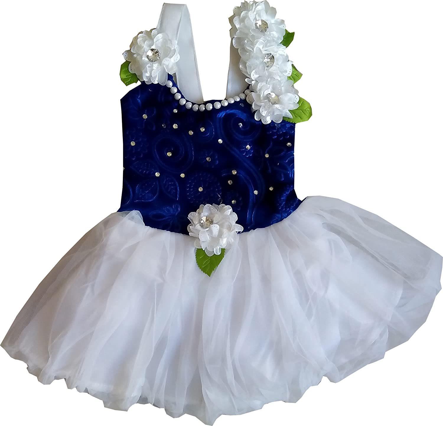 Blue dress for baby girl 4 months