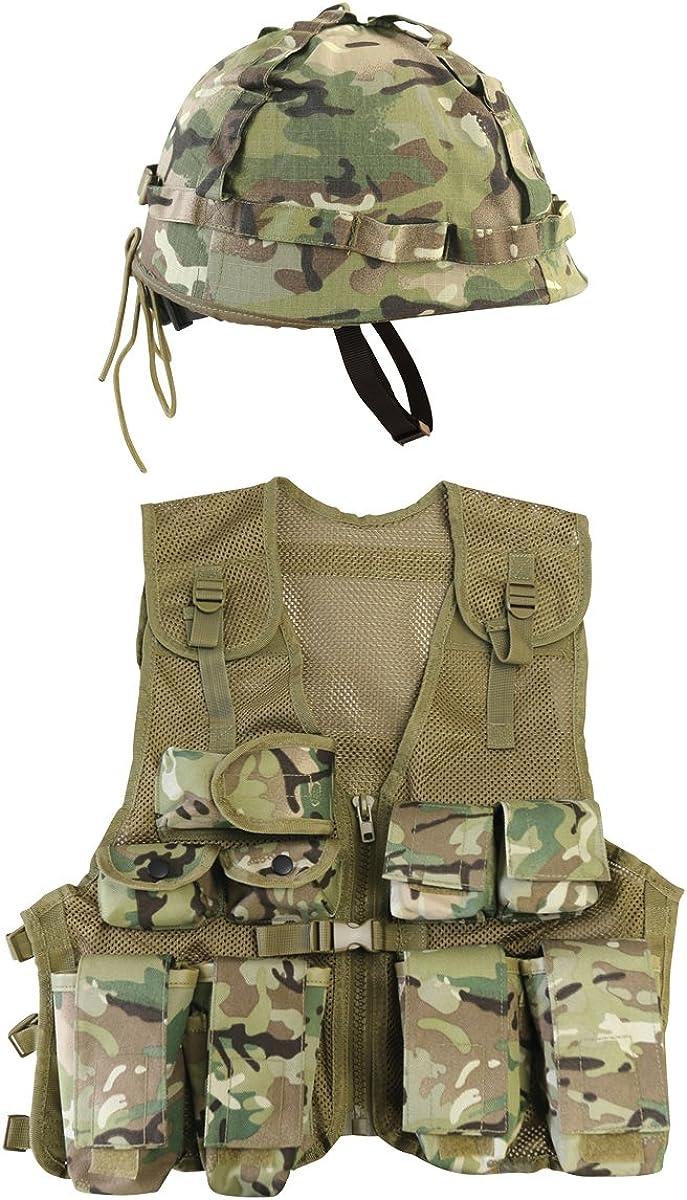 Einheitsgr/ö/ße BTP Schwarz Kombat UK Kinder M1 Cover Helm