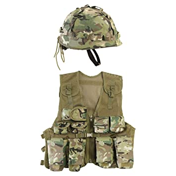 3531a463 Kombat UK Kid's BTP Assault Vest + Helmet Set, British Terrain Pattern, One  Size: Amazon.co.uk: Sports & Outdoors