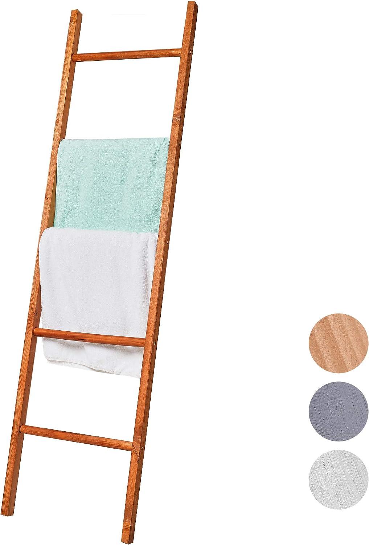 BALIBETOV Escalera Decorativa de Madera Pino Premium - Escalera Ideal para Colgar Toallas o Mantas - Organizadora para Baño, Living u Oficina. Moderna Chic (Marron, 150 cm): Amazon.es: Hogar