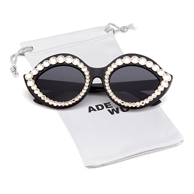 961a7d856a08 ADEWU Novetly Lips Sunglasses Vintage Cat Eye Crystal Sun Glasses for Women