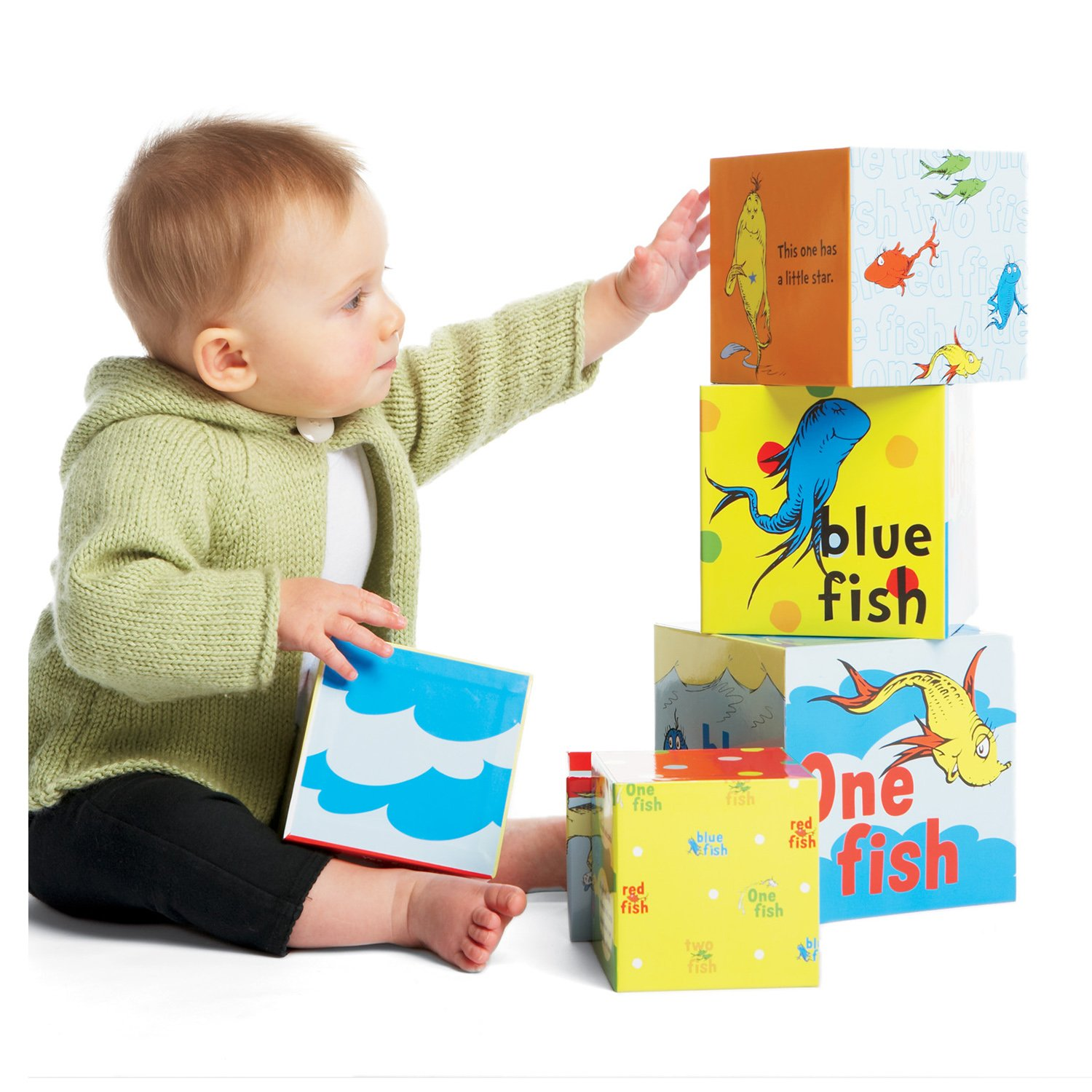 Amazon Manhattan Toy Dr Seuss e Fish Stacking Blocks