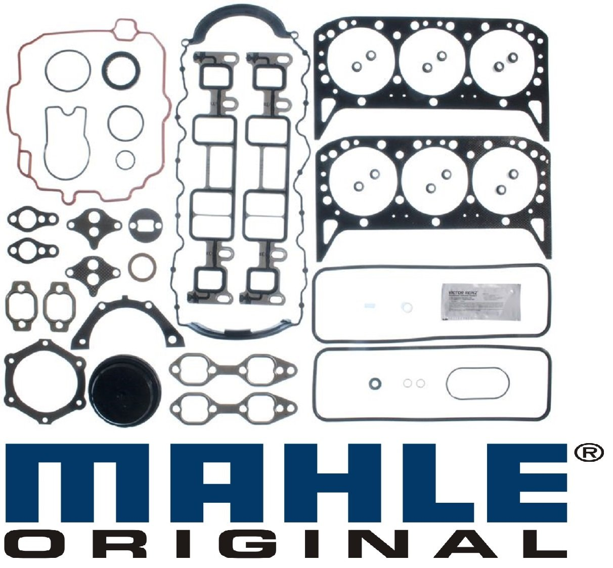 Mercruiser 4.3L 262 cid Chevy 1 Pc seal MARINE Full Gasket Set Head+Manifold+Oil Pan Vortec (4.3L 263cid)