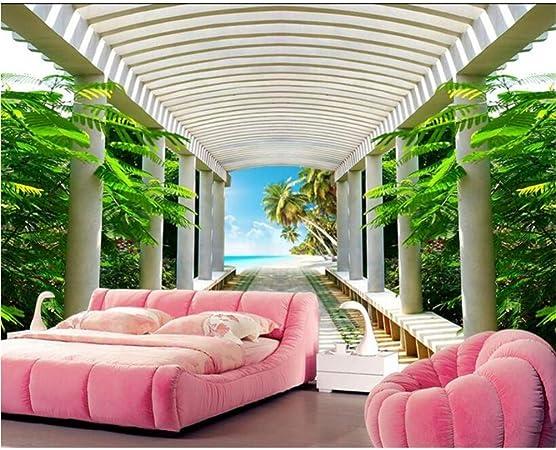 papel tapiz para paredes 3d HD paisaje natural pasillo sala espacio expansión sala de estar TV decoración de pared papel tapiz: Amazon.es: Bricolaje y herramientas
