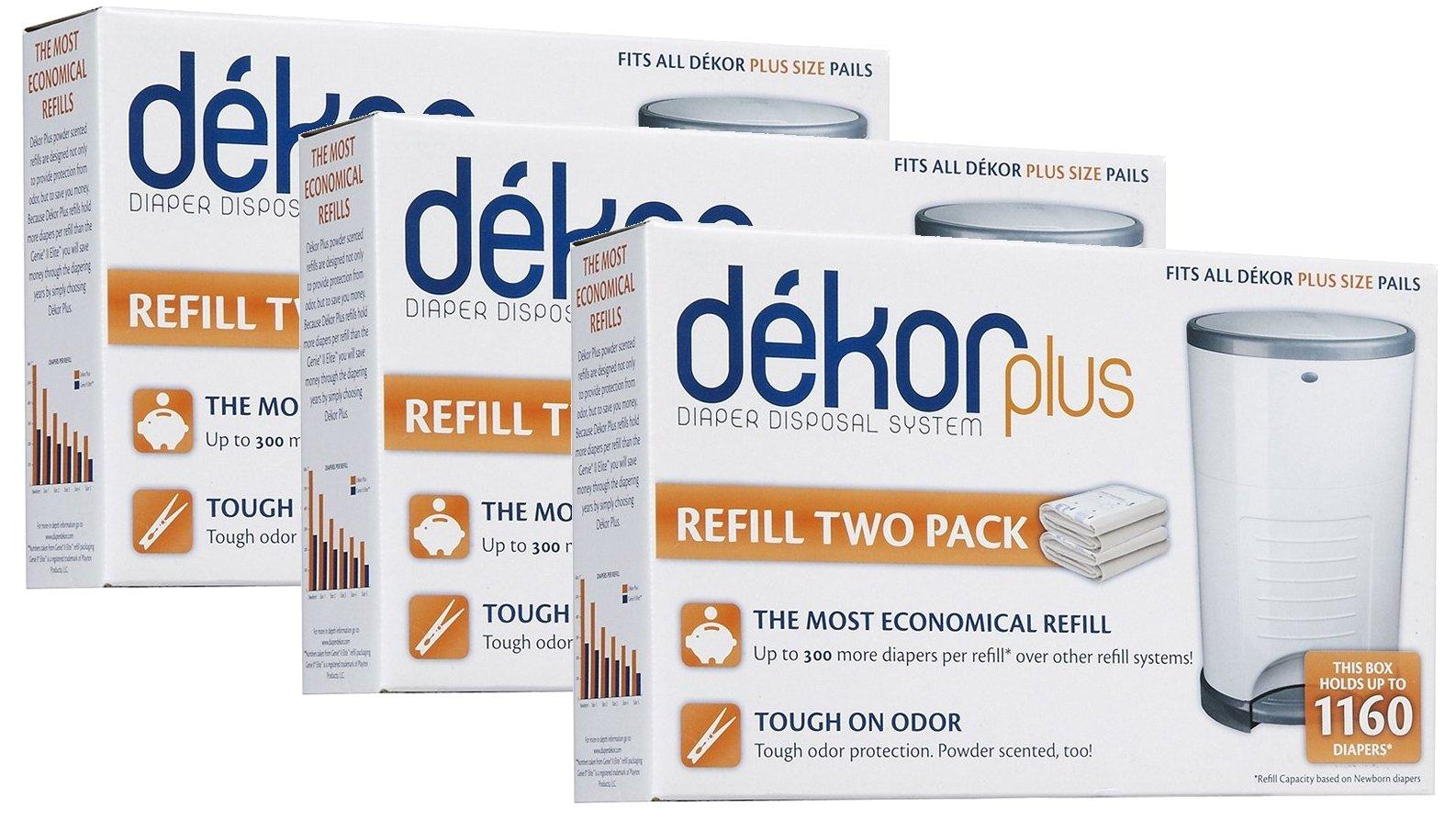 Diaper Dekor Plus Refills 2 Count (Pack of 3)