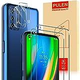[4-Pack] PULEN for Motorola Moto G9 Plus / Moto G Stylus 2021 Screen Protector (2 Packs)+2 Packs Camera Lens Protector,HD Cle
