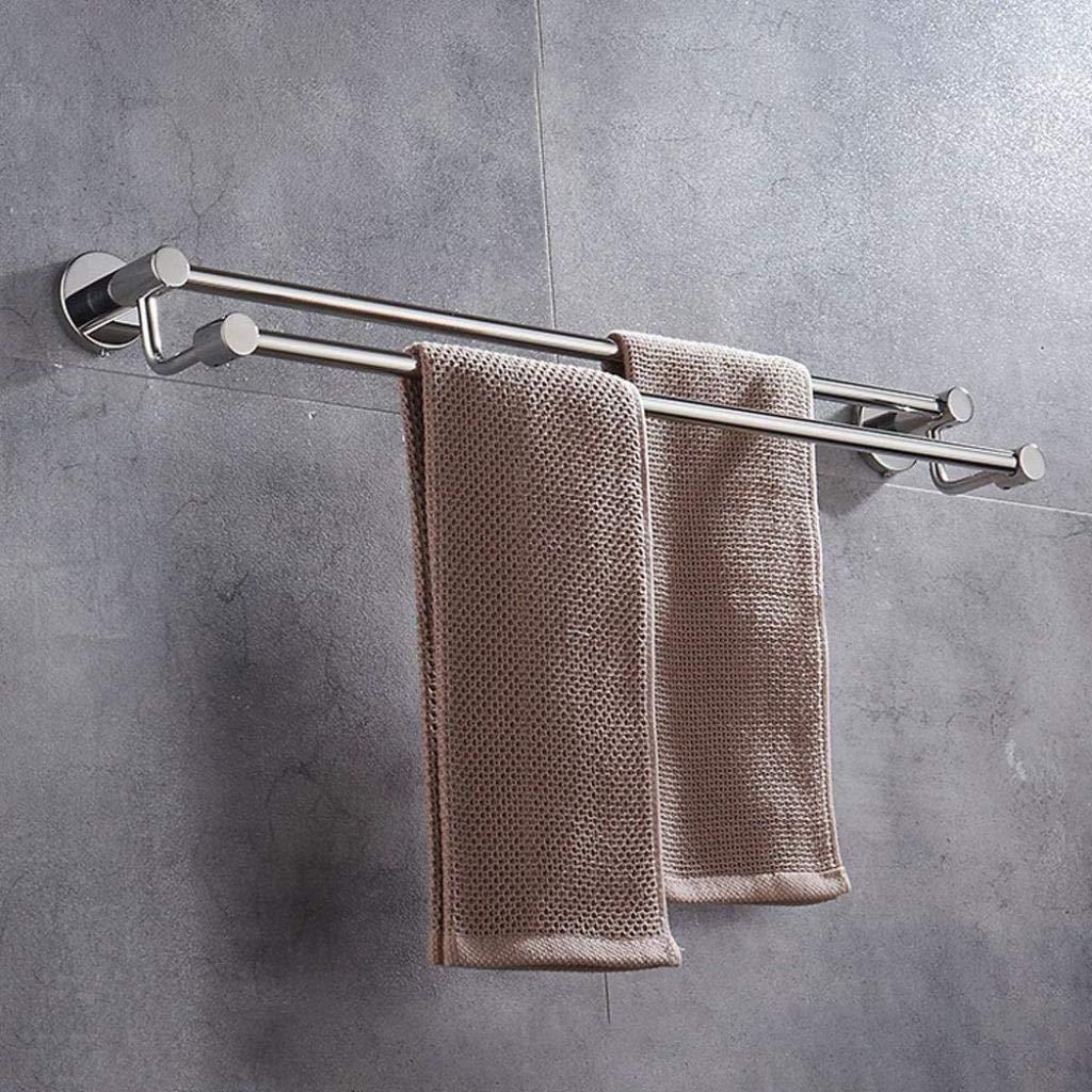 タオルハング タオル掛けパンチフリーステンレス鋼タオルバー二極浴室キッチン雑貨収納ラック (サイズ さいず : 80センチメートル) B07S3L3XFV  80センチメートル