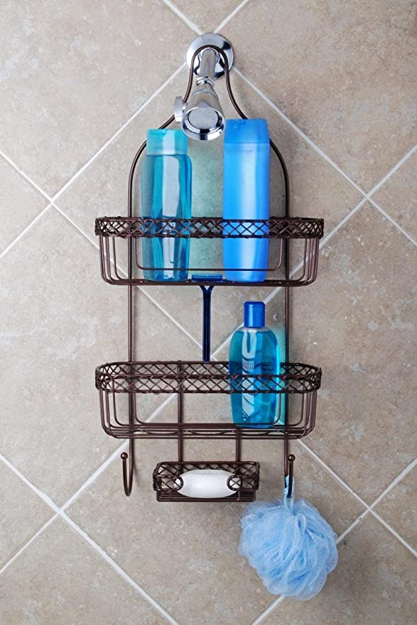 Amazon.com: Totally Bath Vertical Fit Shower Caddy, Oil Rubbed ...