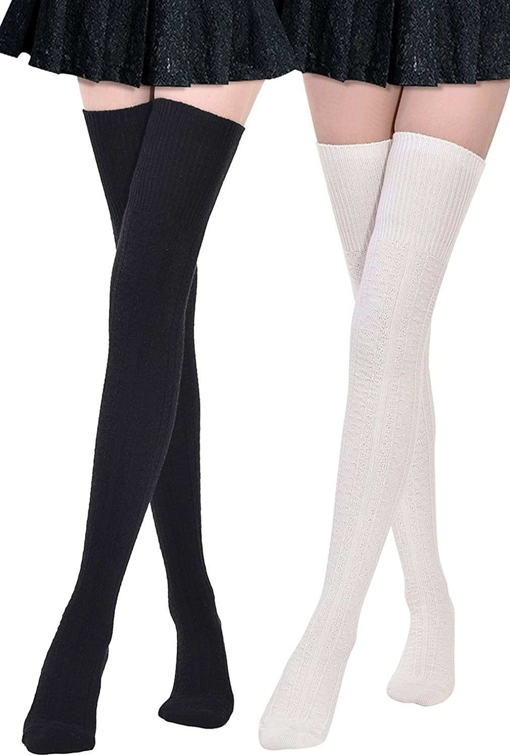 2 Pack juDanzy Knee High Team Color Tube Socks for Toddler and Youth Boys and Girls