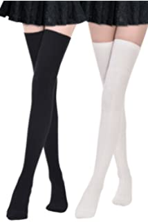 d31280887 Kayhoma Extra Long Cotton Thigh High Socks Over the Knee High Boot Stockings  Cotton Leg Warmers