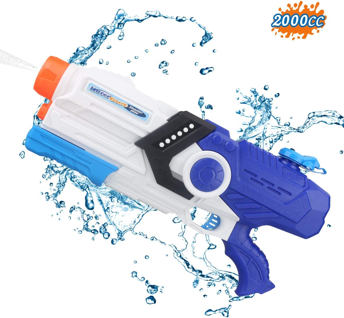 Water Gun,Squirt Guns High Capacity 2000CC Soaker Blaster 35 FT Long Range Water Toys for Kids and Adults Water Guns for Summer Outdoor Swimming Fight Game