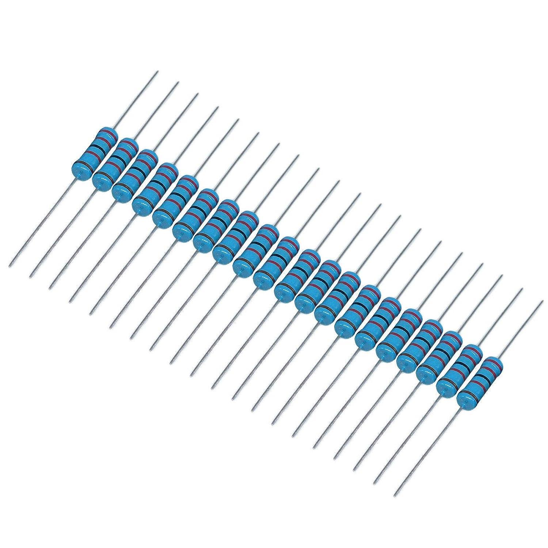 US Stock 200pcs 8.2K ohm 8.2Kohm 1//4W Watt Metal Film Resistor 0.25W 1/%