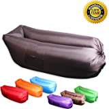 XYH Inflatable Lounger with Carry Bag,Securing Stake and Bottle Opener for Travelling,Camping,Hiking.