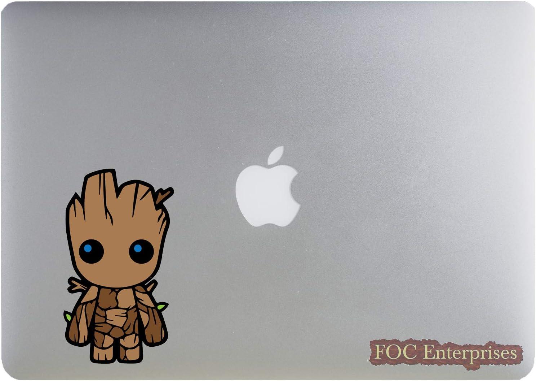 "Cute Baby Groot Funny Little Superhero Vinyl Die-Cut Sticker for MacBook/Laptop, Car/Truck, Window/Bumper - Size Approx. 4.5"" inches Longer Side"