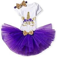 TTYAOVO Bebita 1er Cumpleaños Princesa Tutu Falda Ropa