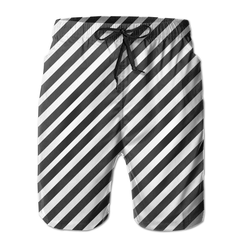 XIYX Lines Men's Classic Fit Summer Shorts Swim Trunk Quick Dry Casual Summer Beach Shorts With Pockets