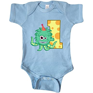 7ef99b6ea89 inktastic - Monster 1st Birthday Infant Creeper Newborn Baby Blue 2700d