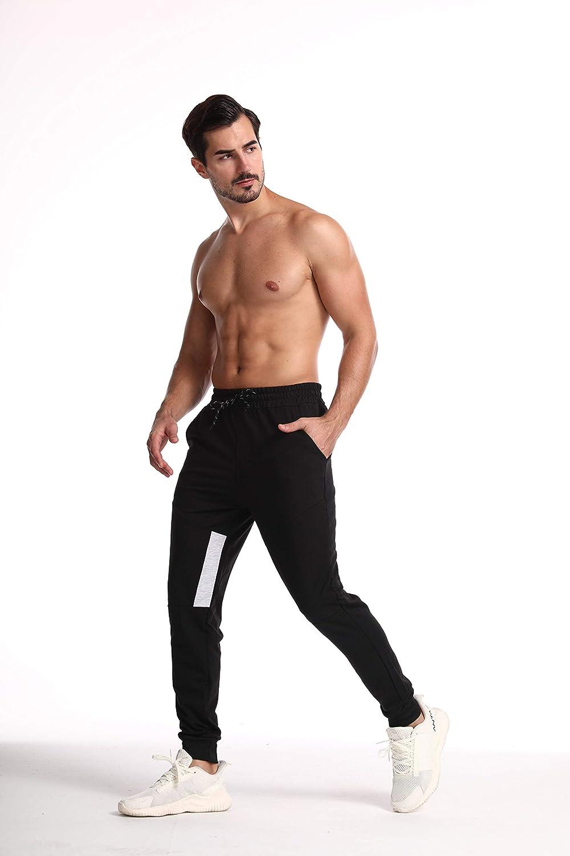 aijieke Mens Slim Jogger Pants Gym Sport Bodybuilding Workout Running Slim Fit Sweatpants