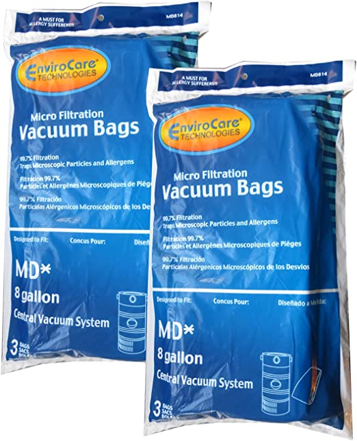 3 Pack Modern Day 8 Gallon Central Vacuum Bags