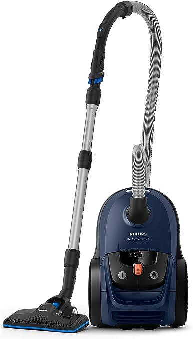 66 Decibelios Philips Performer Silent Aspirador con Bolsa 4 litros Pl/ástico Azul 650 W
