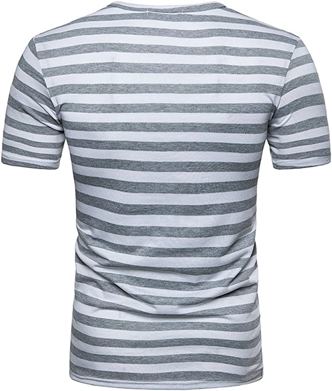 Overdose Camisetas Hombres Estampadas Manga Corta Rayas T Shirt ...