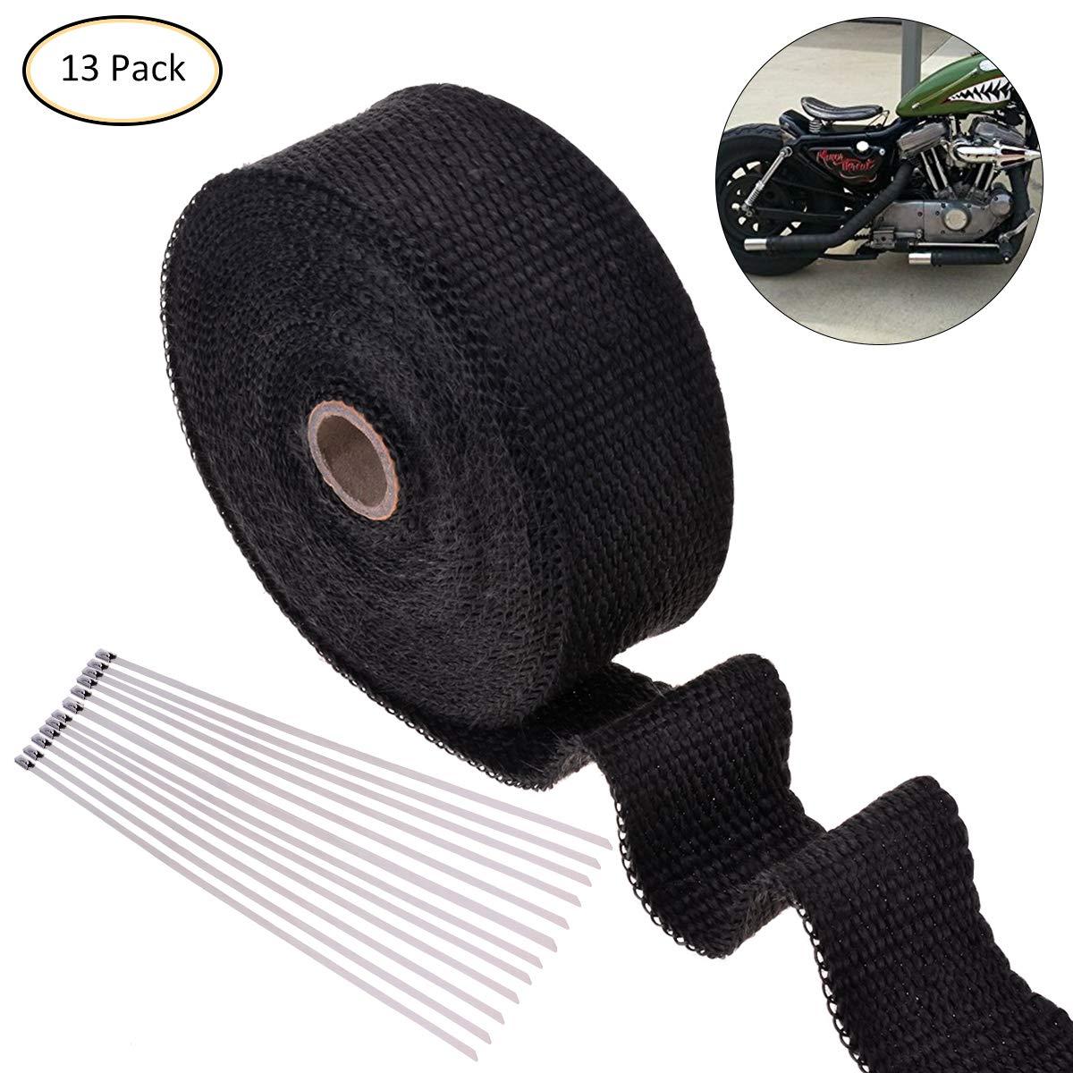 OZUAR 10M Cinta Anticalorica Rollo + 12x Inoxidable Cable Lazos para Escape de Coche y Motocicleta Sistemas De Escape WTDYX20180504001-525-1538027941