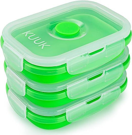 Amazon.com: KUUK - Recipiente plegable de silicona para ...