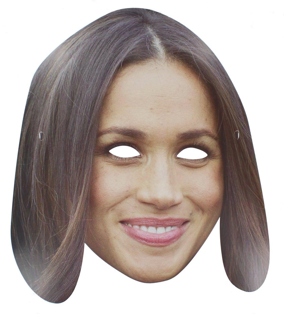 Meghan Markle Royal Wedding Celebrity Card Face Mask Street Party Accessory