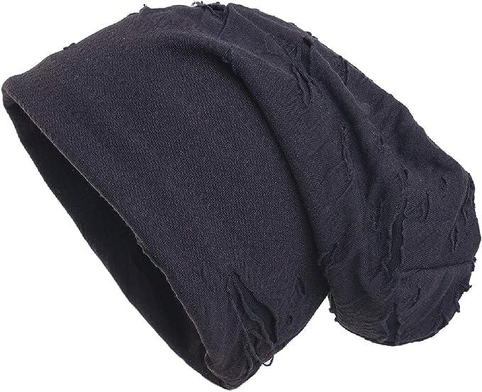 primavera//estate unisex shenky Cappello in jersey lungo e sottile nero