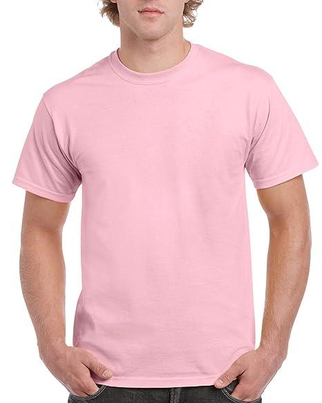 Gildan – Camiseta de Manga Corta para Hombre, Rosa Claro, Medium