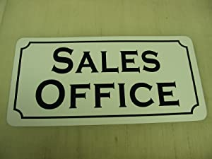 Sales Office Vintage Style Metal Sign Decor