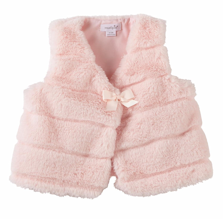 Mud Pie Pink Fur Outerwear Infant Vest