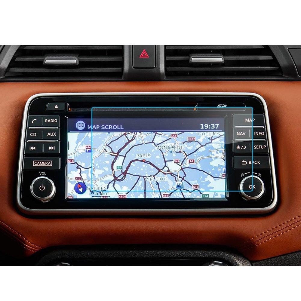 9H Cristal Vidrio Templado GPS Navi pel/ícula protegida Glass LFOTPP Nissan Micra 7 Pulgadas Navegaci/ón Protector de Pantalla