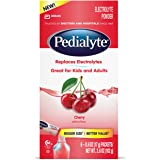 Pedialyte Electrolyte Powder, Electrolyte Drink, Cherry, Powder Sticks, .6 oz, 6 Count