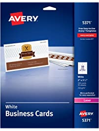Business cards amazon office school supplies paper avery colourmoves