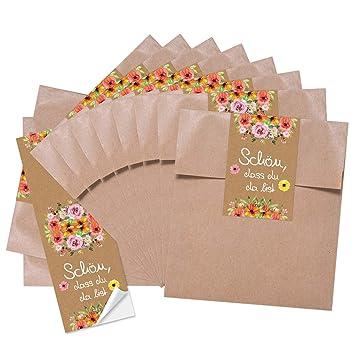 Logbuch-Verlag - Pequeña Bolsa de Papel con diseño de Flores ...