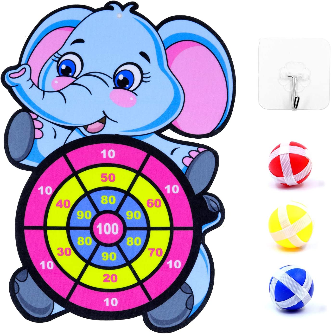 Lohoee Childrens Dart Board Toys Magic Sticky Ball Kids Early Development Skills Games Toys for Age 3-6 Year Old Boys and Girl Birthday Gifts Indoor or Outdoor Play