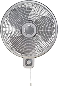 XKRSBS 16 Inch Wall Mount Fan for Indoor Use, Light Grey