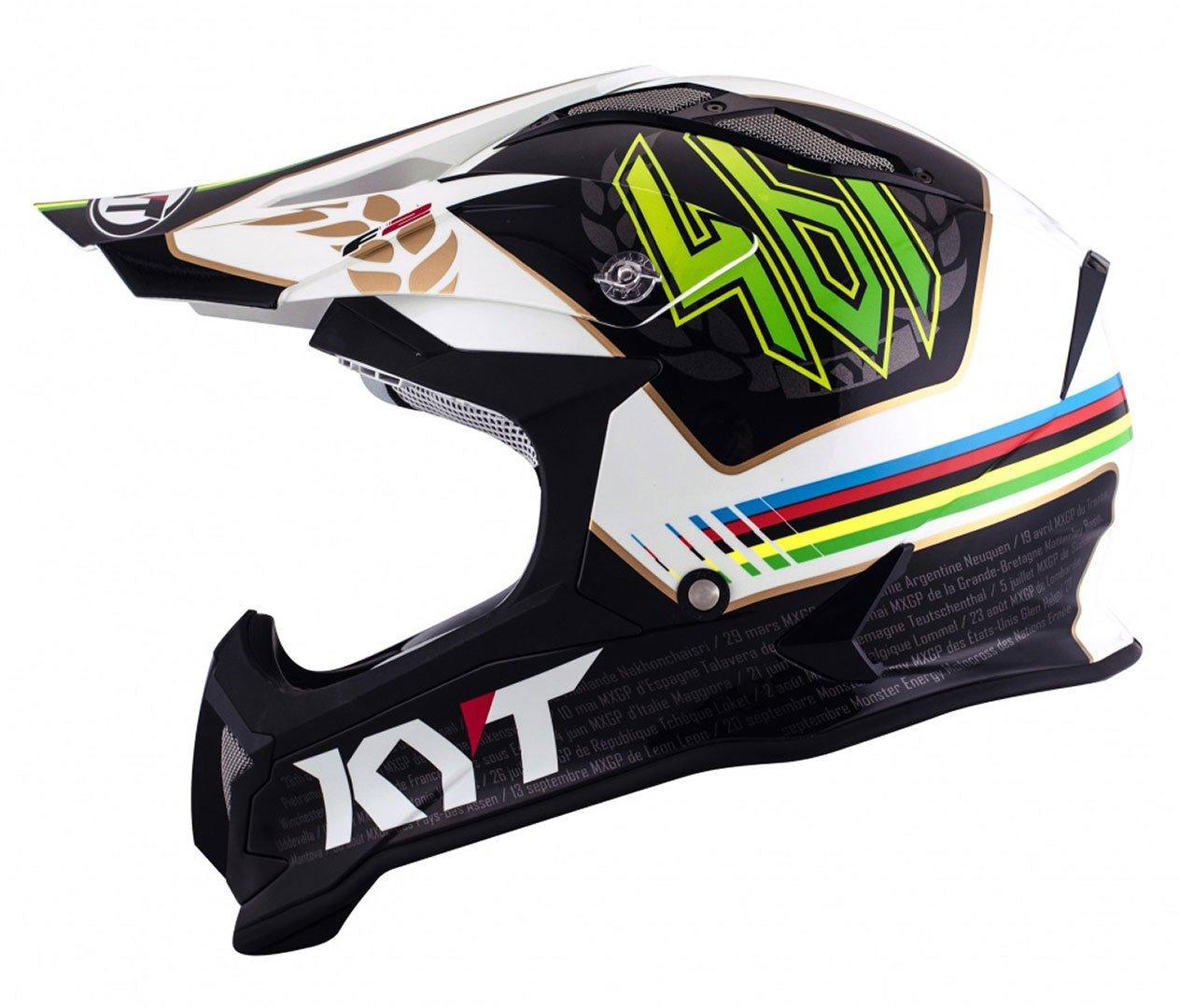 Amazon.es: KYT ysea0009.5 Casco Moto, multicolor, L