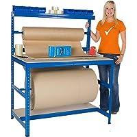 Estación de embalaje | Capacidad de carga 300 kg 1500 x 1200 x 750 mm | Ensamblaje de enchufe sin complicaciones |Mesa…