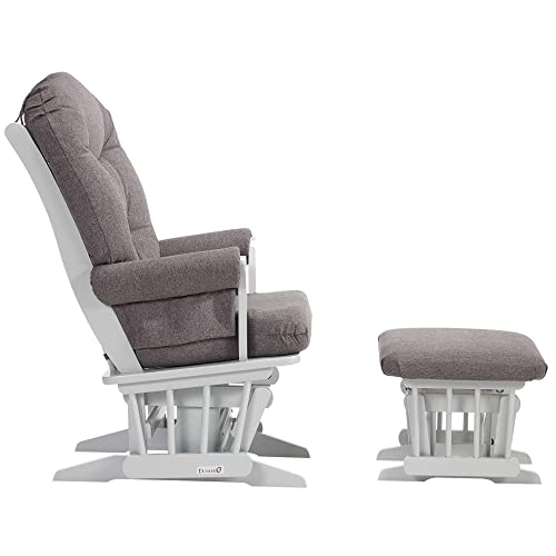 Dutailier Ad le Glider Chair and Ottoman Set Grey Dark Grey