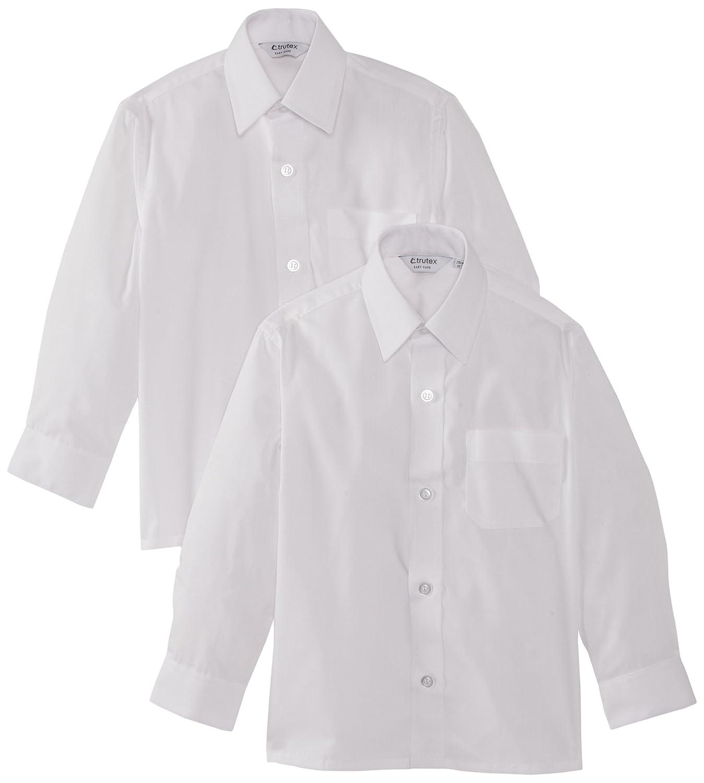 ec78a37b67755 Trutex 2PK LS Non Iron Shirt - Camisa para niños  Amazon.es  Ropa y  accesorios