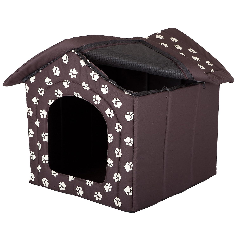 Taglia L Marrone con Impronte di Zampe in Resistente Tessuto Cordura Hobbydog Cuccia per Cani