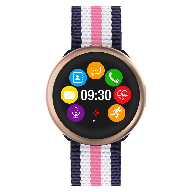 MyKronoz ZeRound2 HR Premium Smartwatch avec capteur de Rythme Cardiaque, Microphone et Haut-Parleur intégré: Amazon.fr: High-tech