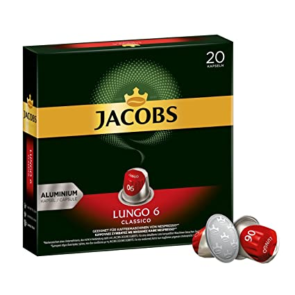 490c82e253c20c Jacobs Kaffeekapseln Lungo Classico, Intensität 6 von 12, 200 Nespresso®*  kompatible Kapseln, 10 x 20 Getränke