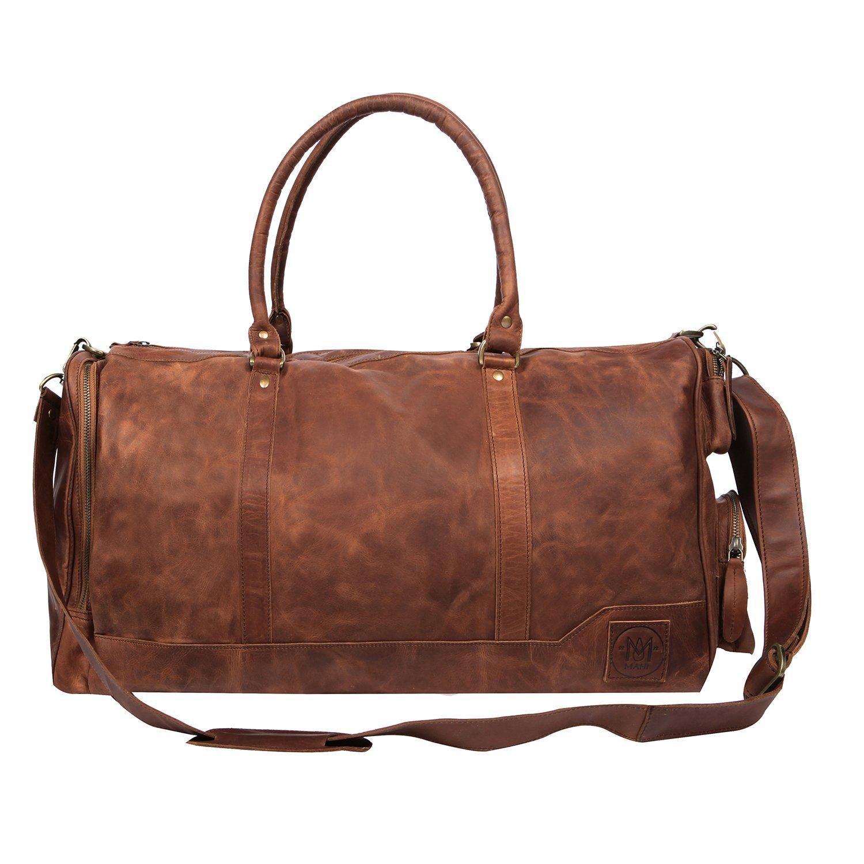 コロンバス ボストンバッグ トラベルバッグ 旅行 ビジネス ヴィンテージブラウンレザー 本革 MAHI Leather   B07877TDL4